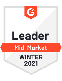 G2 Mid Market Leader - Winter 2021