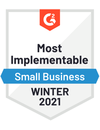G2 Most Implementable - Winter 2021
