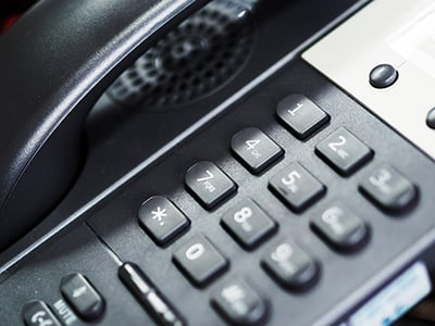 An IP Phone in soft light